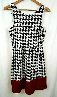 a5b95215231a Anthropologie The Impeccable Pig Womens Dress Sz Small Black Berry  Houndstooth