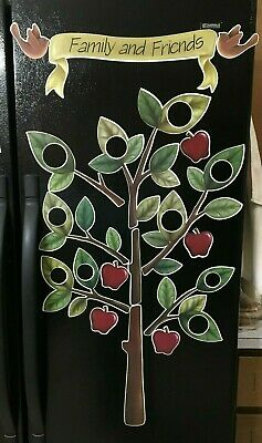 Country Apple Tree Photo Holder Frame Refrigerator Magnet Kitchen Decor