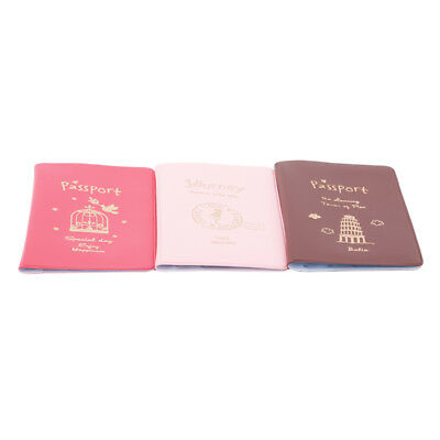 PU Leather Passport Holder ID Card Travel Wallet Organizer Protector Cover D