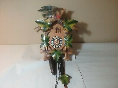 Vintage Cuckoo Clock With Weights And Chains