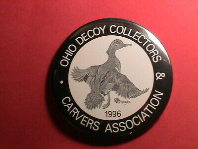 Ohio 1996 Decoy Collectors & Carvers Show G.w Teal Duck Gun Hunting Pin Pinback