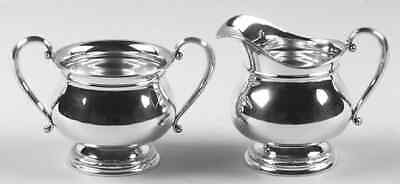 International PRELUDE PLAIN STERLING Mini Creamer & Open Sugar 1949759