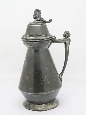 Early Rare Meriden B. Co. Silverplate Figural Syrup / Pitcher