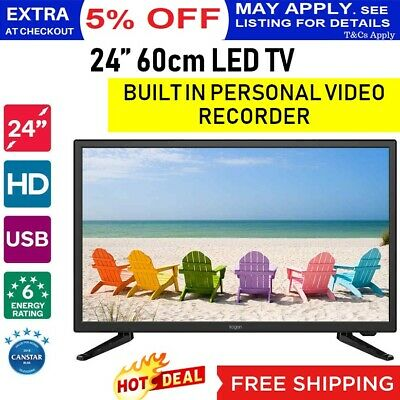 NEW 24''60cm LED TV HD Television PVR Personal Video Recorder USB HDMI 12V Compa