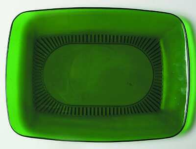 """Anchor Hocking CHARM FOREST GREEN 11"""" Oval Platter 2485258"""