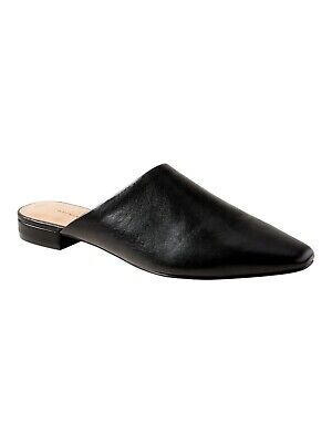 Banana Republic Pointy-Toe Mule, Black Leather SIZE 6              #426998 N0331