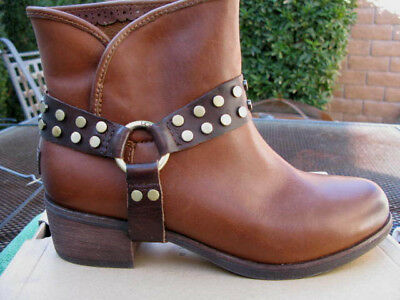 22f8b266407 UGG AUSTRALIA DARLING Harness Brown Leather Ankle Boots Womens Size ...