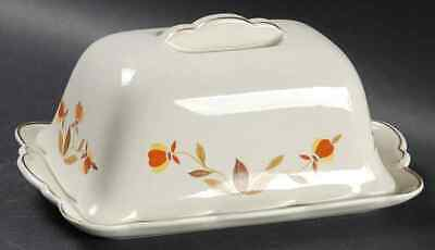 Hall AUTUMN LEAF Ruffled Grip 1 Pound Covered Butter Dish 7664168