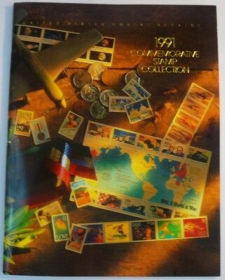1991 Commemorative Stamp Collection Yearbook USPS Mint Set Album with Stamps