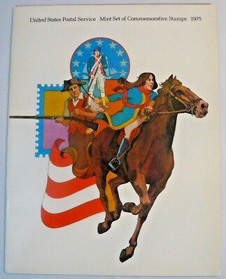 1975 Mint Set USPS Souvenir Stamp Yearbook Album with Stamps Free Shipping