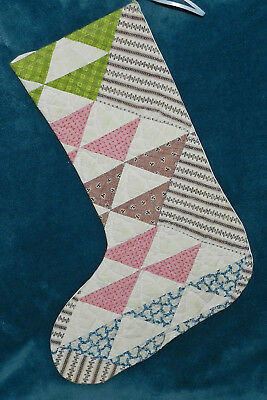 Gorgeous Antique Vintage Cutter Quilt Christmas Stocking! 17-21