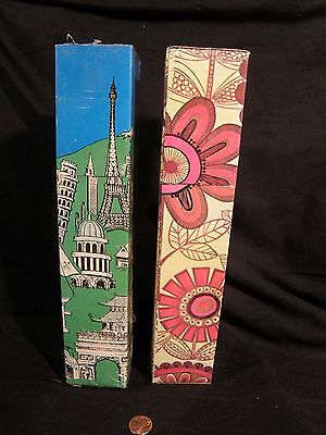 Vintage Fireplace Matches Extra Long Mod 1960's Psychedelic Flowers Pop Art Prop