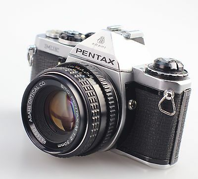 PENTAX ME 35mm SLR Film Camera + 50mm Lens