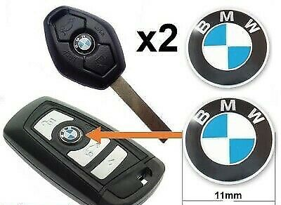 2 x 11mm BMW Replacement Key Fob Badge Sticker