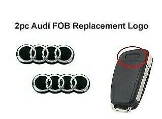 2 x 16mm AUDI Replacement Key Fob Badge Sticker