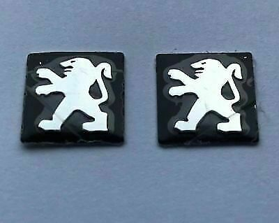 2 x 15mm PEUGEOT Replacement Key Fob Badge Sticker