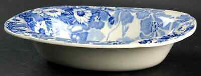"""Wood & Sons GAY DAY BLUE 8 3/4"""" Oval Vegetable Bowl 774100"""