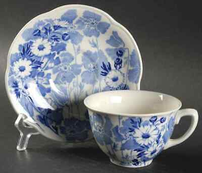 Wood & Sons GAY DAY BLUE Cup & Saucer 774077