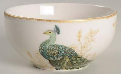 222 Fifth SERENE PEACOCK Soup Cereal Bowl 10383697