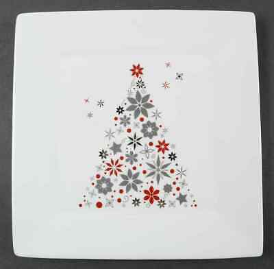Food Network HOLIDAY TREE Square Dinner Plate 9897475