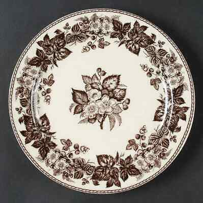 Two's Company BROWN TRANSFERWARE Round Floral Wall Plate 5548010