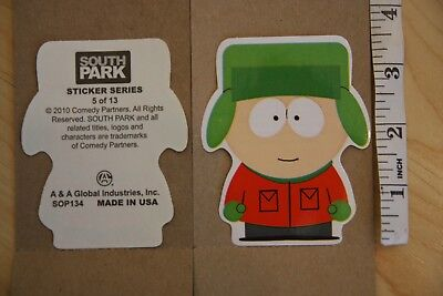 0e80d9b2718 Vintage SOUTH PARK Kyle Broflovski Decal Sticker Series 5 of 13 2010 Comedy
