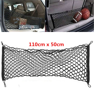1pc Black Double Layer Car Trunk Storage Bag Luggage Organizer Holder Net