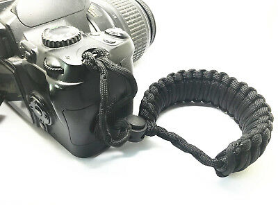 Braided 550 Adjustable Camera Wrist Strap for Canon Powershot SX500 IS_SX