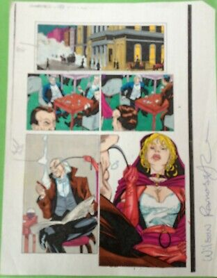Gambit #12 Page 21 Original Color Guide Marvel Production Art X-Men Sign Ramos