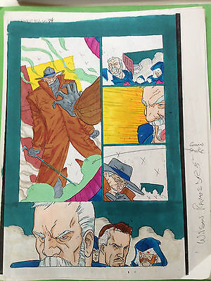 Gambit #12 Page 24 Color Guide Marvel Production Art X-Men Sign