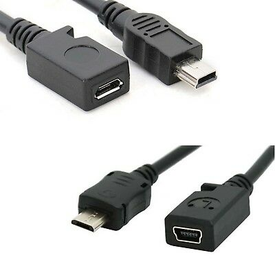 Mini USB male to Micro USB B feMale data charger cable adaptor converter mg