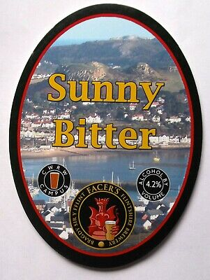 Beer Pump Clip Badge Sunny Bitter Facers Flintshire Brewery BP333