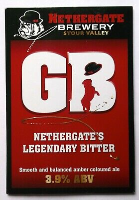 Beer Pump Clip Badge GB Nethergate Stour Valley Brewery BP302