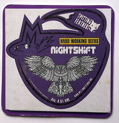 Beer Pump Clip Badge Nightshift Hard Working Beer Spitting Feathers BP326