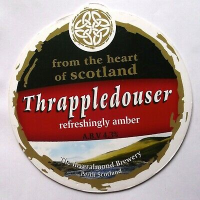 Beer Pump Clip Badge Thrappledouser Inveralmond Brewery Perth Scotland BP283