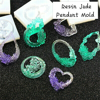 Resin Jade Pendant Mold Resin Mold Epoxy Mold Silicone DIY Jewelry  Mold