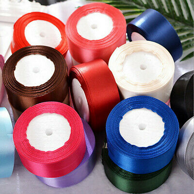 25YD Satin Ribbon 38mm Multi Craft Wedding Supplies Flower Fabric Party 14Colors