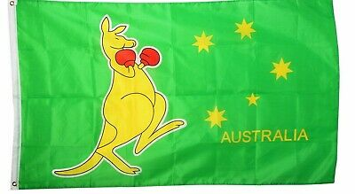 Australian Boxing Kangaroo Flag  150x90cm 5x3ft every aussie must own