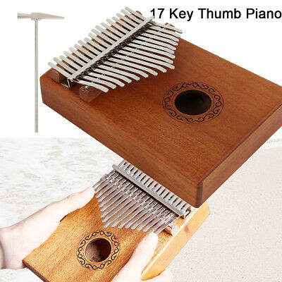 DKL-17 17 Key Kalimba Single Board Mahogany Thumb Piano Mbira With Accessories