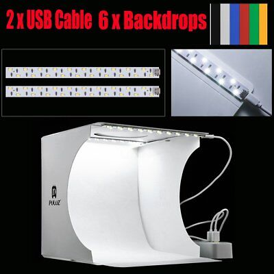 Portable Photo Lighting Studio Mini Box Photography Backdrop LED Light Room Tent