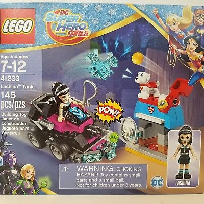 Lego DC Super Hero Girls Lashina Tank 41233 Krypto the Superdog Kryptonite 145pc