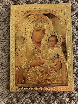 Orthodox Icon Fridge Magnet Theotokos Virgin Mary and Baby Jesus