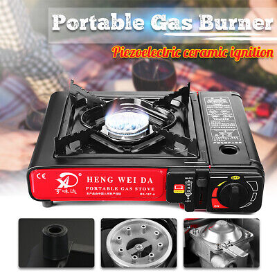 Portable Gas Burner Stove Butane Cooker Outdoor Camping AGA APPROVE Windshield