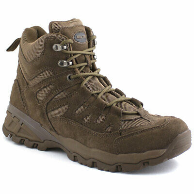 Brown Army Military Tactical Cadet Combat Patrol Hunting Low Short Ankle Boots