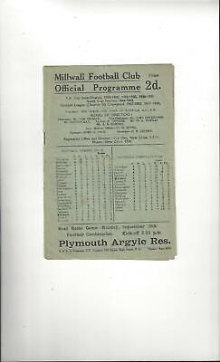 Millwall v Manchester City Football Programme 1946/47
