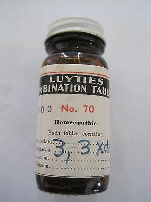 Medicine Bottle  Luyties Tablets St. Louis MO Homeopathic Vintage