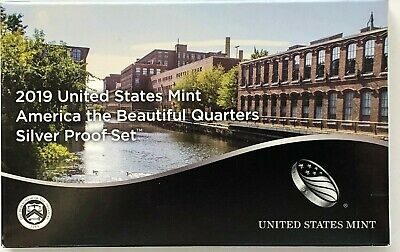 2019 US Mint America the Beautiful Quarters SILVER Proof Set - COA & Box - NEW!