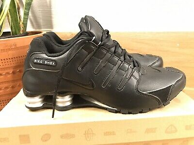 new style 10bcd fc940 Mens Nike Shox NZ SL sneakers leather Black On Black size 10 366363-001