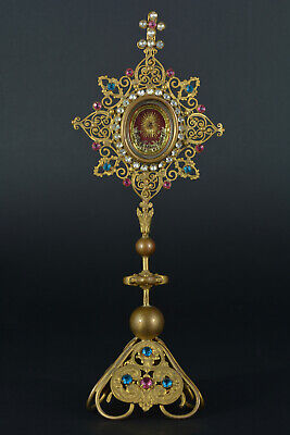 Rare Antique Monstrance reliquary St Mark the Evangelist Apostle First Relic