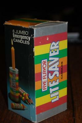 Vintage Life Lite Savers Candy Advertising Candles 1970's Tin Toy NOS  sign